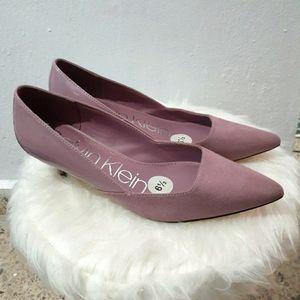 Calvin Klein Pastel Purple Kitten Heels 6.5